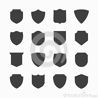Free Shield Icons Royalty Free Stock Photos - 43456938