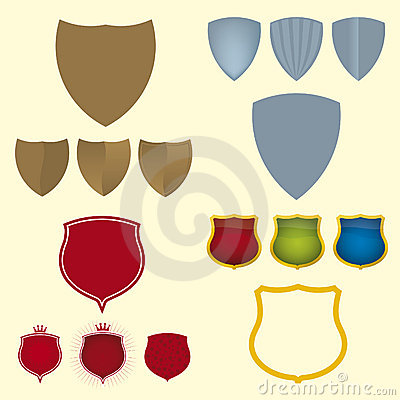 Shield icons (vector)