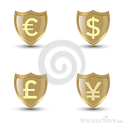 Free Shield Money Stock Images - 43504174