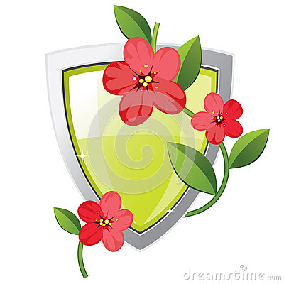 Shield with plant