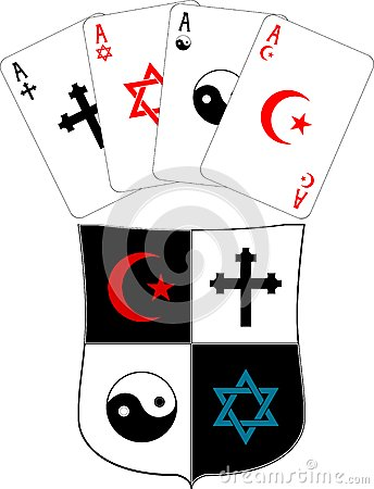Shield and religious aces