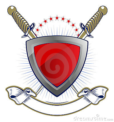 Shield and sword emblem
