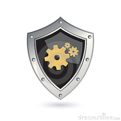 Free Shield With Gears Stock Photography - 17340872