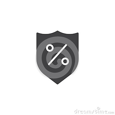 Free Shield With Percent Sign Vector Icon Stock Photo - 116316570