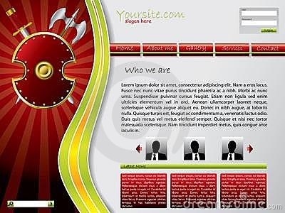 Shielded web template