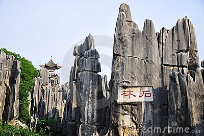 Shilin Stone Forest Editorial Photography