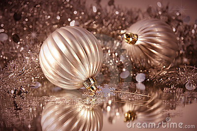 Shimmering frosted balls
