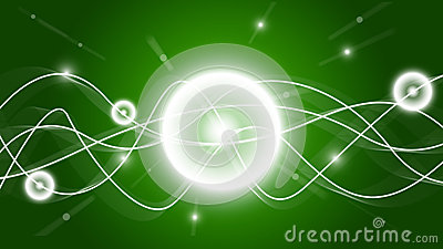 Shine HD green waves wallpaper