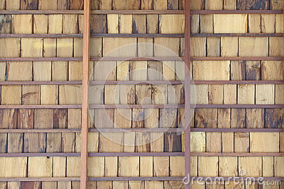 Shingle Aged Wooden Background with Copyspace