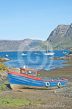 Shingle beach at Plockton Editorial Photography