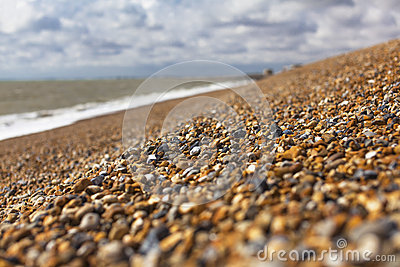 Shingle in English Hythe, close to the gravel