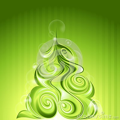 Shining abstract christmas tree