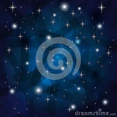 Shining Abstract Dark Blue Background