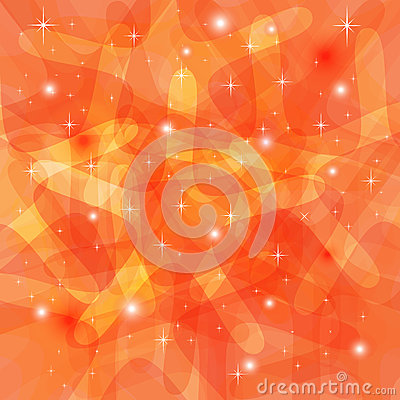 Shining Abstract Orange Background