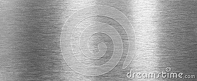 Shining brushed steel metal texture