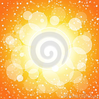 Shining circles orange and yellow abstract backgro