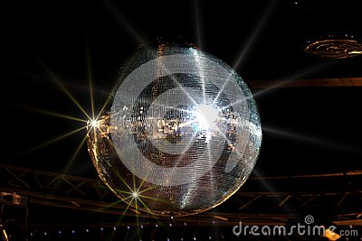 Shining disco ball