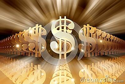 Shining Dollar Signs