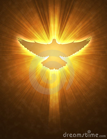 Free Shining Dove With Rays On A Dark Stock Photo - 13194930