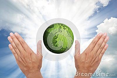 Shining globe