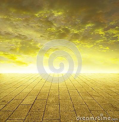 Shining golden horizon