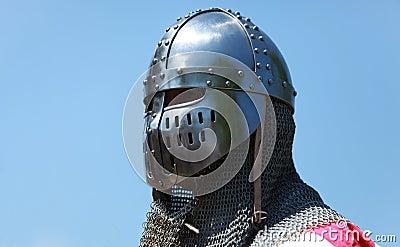 Shining knight helmet