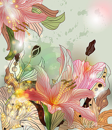 Shining lilies composition