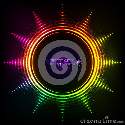 Free Shining Rainbow Lights Abstract Sun Frame Royalty Free Stock Photos - 60273228