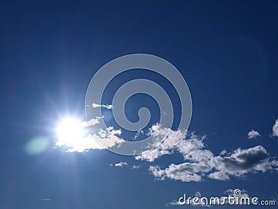 Shining sun & a bright blu sky