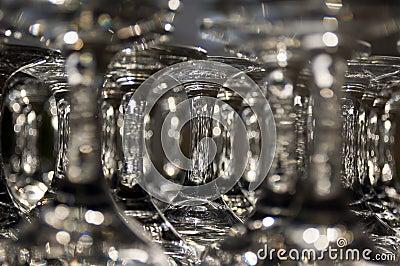 Shining wineglasses