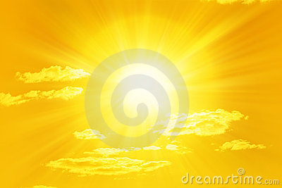 Shining Yellow Sun Sky
