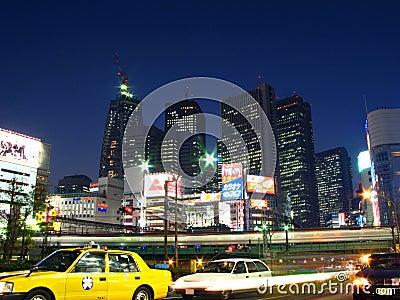 日本shinjuku东京 编辑类库存图片