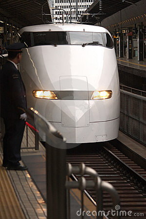 Shinkansen arrives in Tokyo