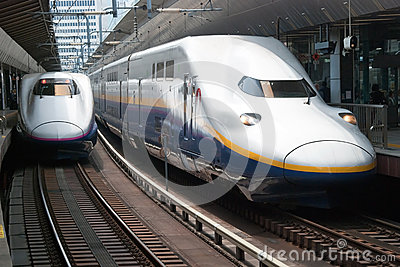 Shinkansen bullet train Editorial Photography