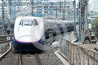 Shinkansen bullet train Editorial Photography