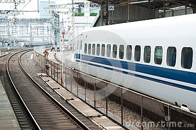 Shinkansen bullet train Editorial Stock Image