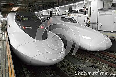 Shinkansen bullet train Editorial Photo