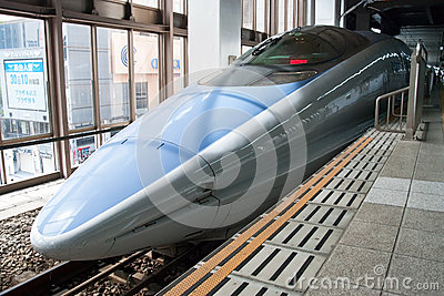Shinkansen bullet train Editorial Stock Image