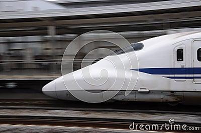 Shinkansen moving Editorial Image