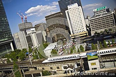 Shinkansen in Tokyo, japan Editorial Photography