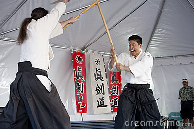Shinkendo Practice Editorial Stock Photo