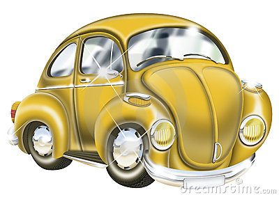 Shinny Yellow Car