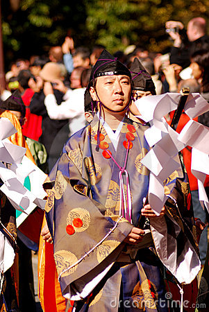 Shinto priest, Tokyo, Japan Editorial Photo