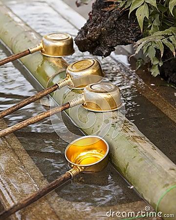 Shinto Shrine Purification Ladles
