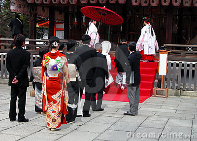 Shinto wedding 编辑类库存图片
