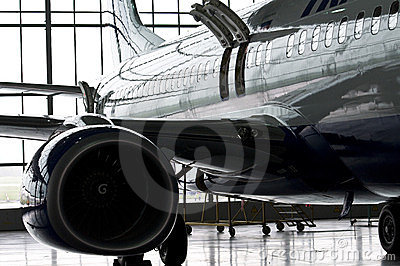 Shiny airplane Editorial Stock Photo