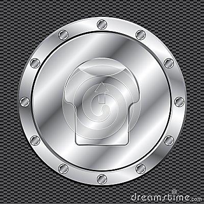 Shiny aluminum fuel cap
