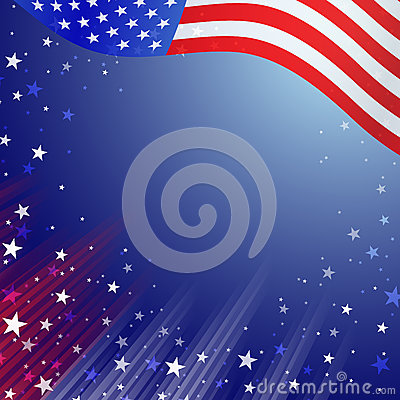 Free Shiny American National Flag Waving For Fourth Of July Royalty Free Stock Photography - 85297217