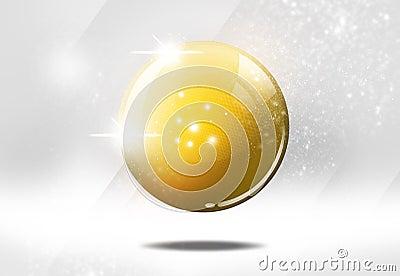 Shiny ball illustration