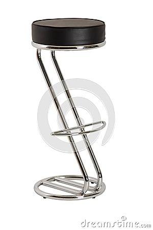 Shiny bar stool, isolated on white